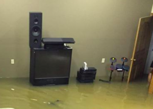 Living room flood