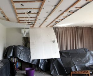 Ceiling collapse living room